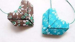 Tutorial Origami Heart -corazn