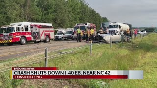 I-40 east closed due to multi-vehicle accident