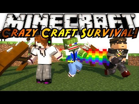 Minecraft Crazy Craft : WHERE'S THE WORLD?!
