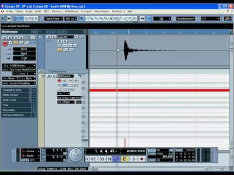 Convertir piste audio rythmique en MIDI 1/2