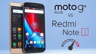 Moto G4 Plus vs Redmi Note 3 Pro Speedtest Comparison!