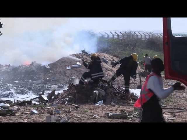 Ethiopian Air Force Plane Crash in Mogadishu Airport