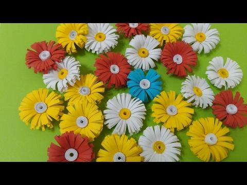 Цветок из бумаги для маленьких
