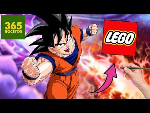 COMO DIBUJAR A GOKU ESTILO LEGO - Dragon ball Súper Lego