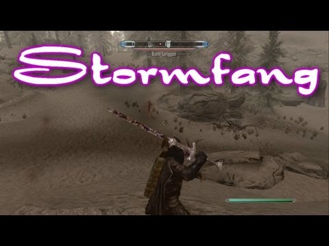 Skyrim Dragonborn DLC - UNIQUE WEAPON - STORMFANG
