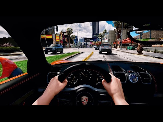 ► GTA 5 REDUX ✪ - Ultra Realistic Graphic ENB MOD - First Person Driving!
