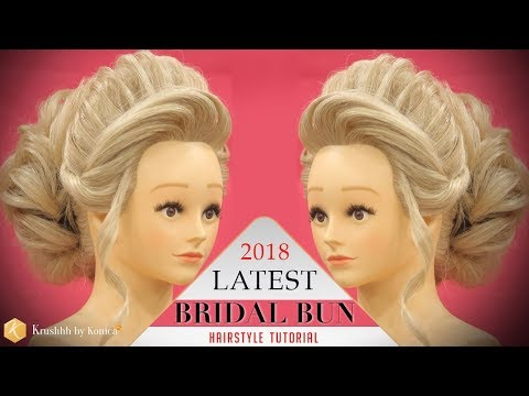 Bridal HIGH BUN Hairstyle Tutorial | Step by Step 2018 Stylish BUN Hairstyle | Krushhh by Konica