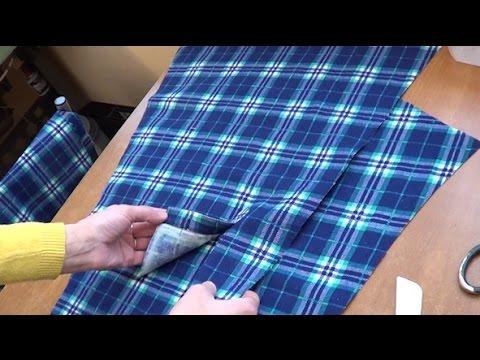 Обработка разреза на рукаве мужской рубашки