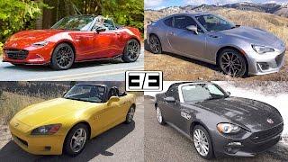 Subaru BRZ vs Honda S2000 vs Mazda MX-5 vs Fiat 124