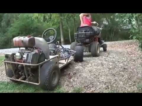 towing the old 13HP go kart to my house