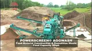 Powerscreen Aggwash Mobile Aggregates Washing Plant