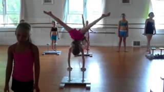 JCD+GA summer 2011 contortion clinic and back-hand-spring cl