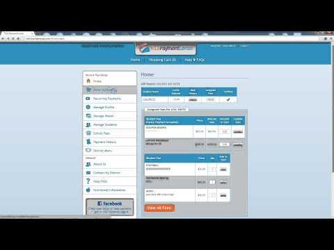Online Payment Site - Parent Registration Tutorial