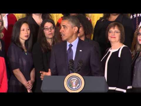 Obama: 'It's Time' to Close Gender Wage Gap
