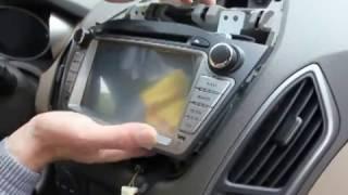 uniway  how to install car dvd  for hyundai ix35 Tucson gps player car stereo gps navigation