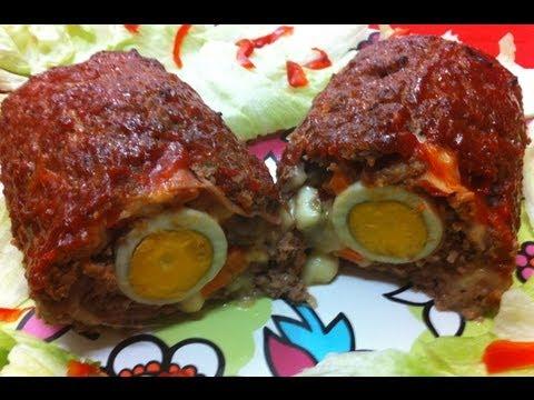 Receta: Arrollado de carne glaseado (glazed rolled Meatloaf)