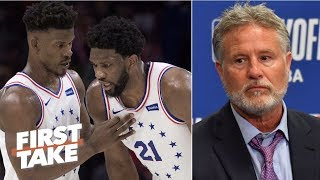 Brett Brown threw Joel Embiid under the bus after Game 4 – Jay Williams | First Take