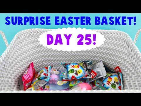 Surprise Easter Basket! Opening Blind Bag Toys! Day 25 - Derpy Chase