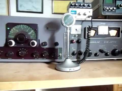 K7PP, Zero beating an AM signal with Johnson Viking Valiant Ham Radio
