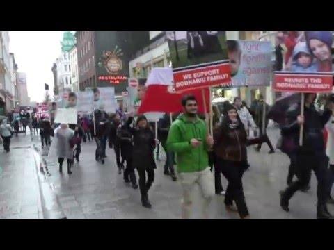 Protest Oslo, Norvegia - sustinere familia Bodnariu   Stop Barnevernet - Oslo, Norway 20/02/16