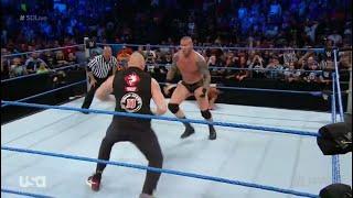 Randy Orton vs Fandango and brock lesnar wwe smackdown 2/8/2016