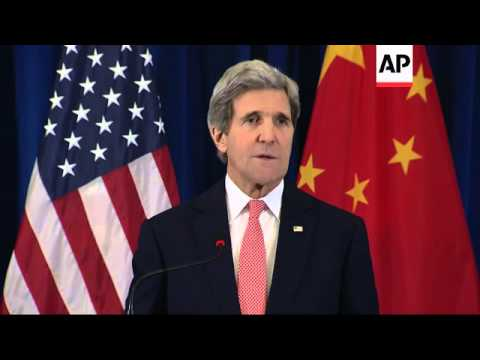 US Secretary of State Kerry comments on Syria talks and North Korea