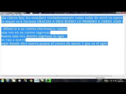 COMO SUBIR DE NIVEL EN OPERATION 7  2013