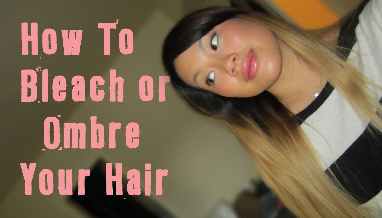 Hair Talk How To Bleach Amp Ombre Dark To Blonde With No