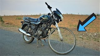 बाइक में लगाया साइकिल का टायर | BICYCLE TYRE FIT IN BIKE | Amazing Idea by Blade XYZ |