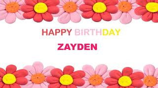 Zayden   Birthday Postcards & Postales