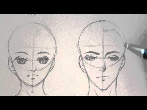 الفرق بين رسم وجه البنت والولد