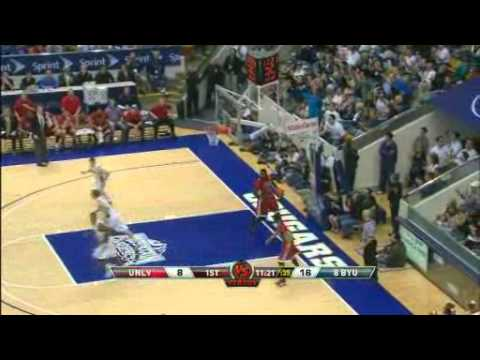 BYU vs UNLV recap Feb 5, 2011 Tre Von Willis GETS JIMMERED!! AGAIN!!!