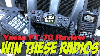 The Yaesu FT-70 Review. Win this Radio from K6UDA