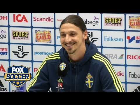 Watch Ibrahimovic's coy reaction to Manchester United transfer question
