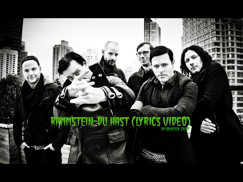 Rammstein-Du hast (Lyrics video)
