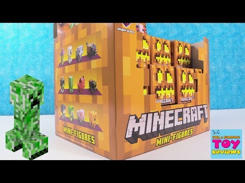Minecraft Spooky Series 9 Blind Box Mini Figures Full Set Toy Review | PSToyReviews