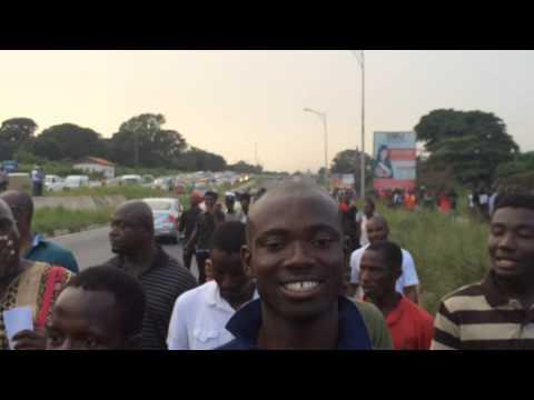 The #dumsormustStop vigil walk in Accra.