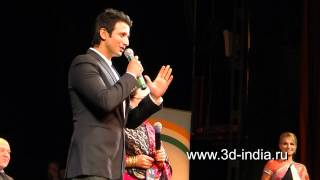 Sharman Joshi in St.Petersburg. Open India festival.