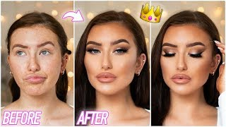 0-100 PROM MAKEUP TUTORIAL - FULL COVERAGE GLAM & SOFT SMOKEY EYE ad | Hannah Renée
