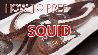 How to Prep Squid for Sushi and Sashimi【Sushi Chef Eye View】