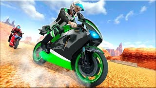 Racing on Motorbike: Real 3D Moto Highway Traffic - Gameplay Android game