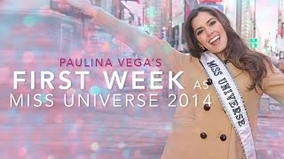 Paulina Vega's First Week as Miss Universe 2014