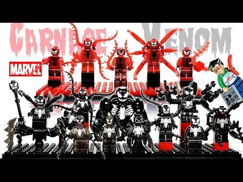 My LEGO Venom™ & Carnage Minifigure Complete Collection 2016 Spider-Man Super-Villains