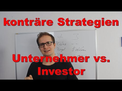 Strategie als Unternehmer vs. Strategie als Investor - Investieren wie ne Pfeife