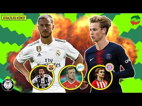 Hazard Megegyezett A Real Madriddal! Frenkie De Jong A PSG-be Igazol! | Átigazolási Körkép