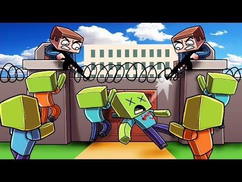 Minecraft | ESCAPE THE ZOMBIE PRISON - Break OUT Challenge! (Zombie Prison)