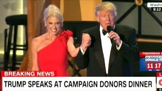 """THANK YOU BABY!"" DONALD TRUMP TO KELLYANNE CONWAY AT INAUGURAL EVE DONORS DINNER"