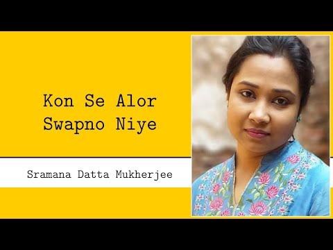 Kon Se Alor Swapna Niye - Sramana video