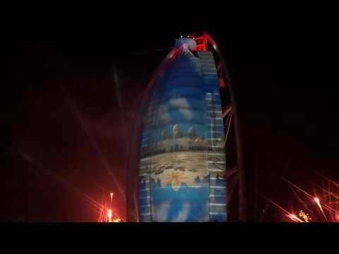 Burj Al Arab 42 national day fireworks 2/12/2013