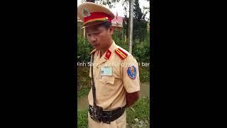 CSGT Lào Cai, Dừng xe kiểm tra hành chính, sau khi xuất trình thì lập biên bản lỗi không chấp hành